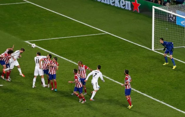sergio ramos real madrid gol atlético de madrid (Foto: Agência Reuters)