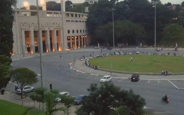 praça charles miller são paulo (Foto: Reprodução / TVTribuna)