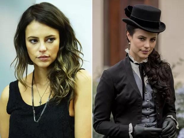 Antes e depois: Paolla Oliveira como Danny Bond (à esq.) e como Melissa (à dir.) (Foto: Tv Globo/ Fábio Rocha/ Gshow)