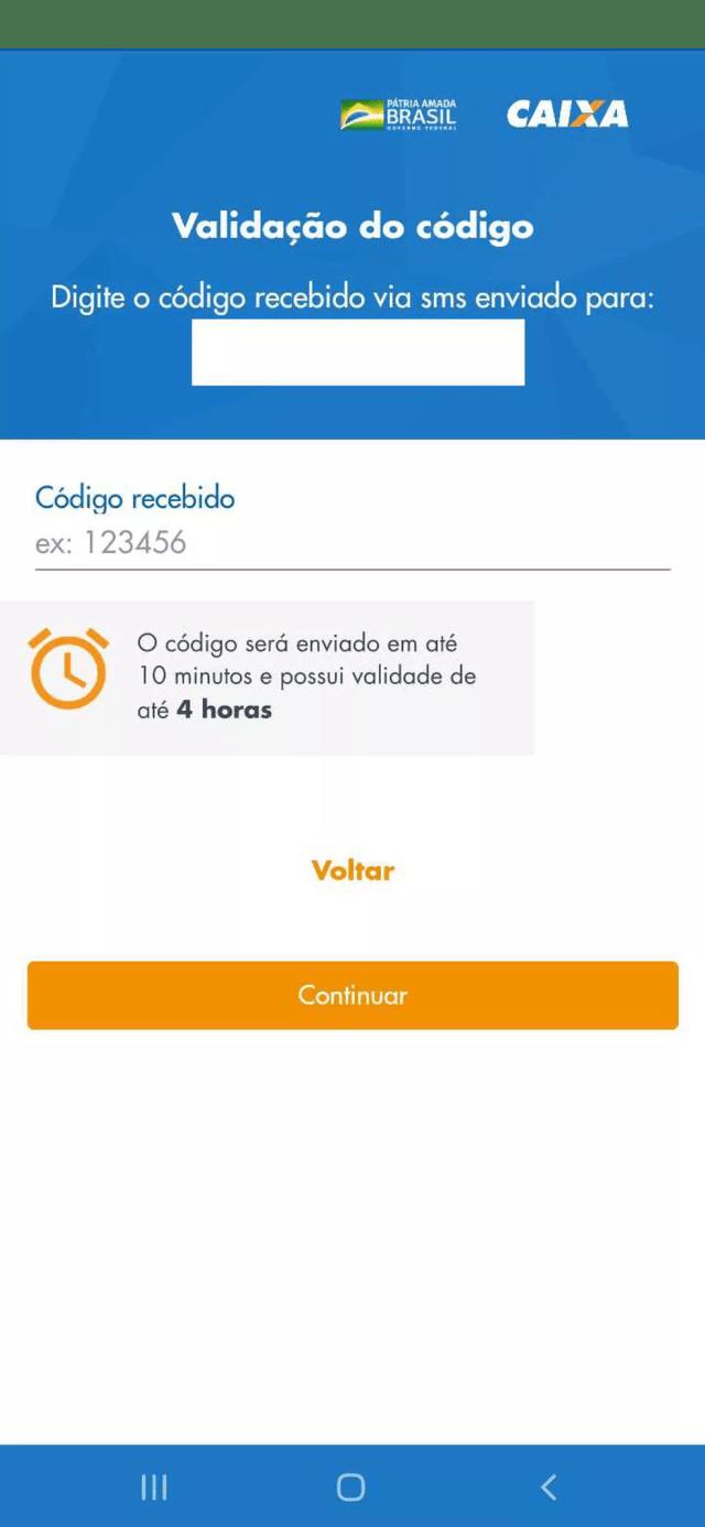 Página para cadastro no programa de auxílio emergencial de R$ 600 no aplicativo da Caixa — Foto: Reprodução