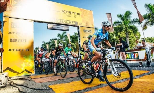 Largada do mountain bike