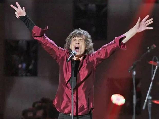 Mick Jagger dos Rolling Stones em NY. (Foto: Dave Allocca / Starpix / Via AP Photo)
