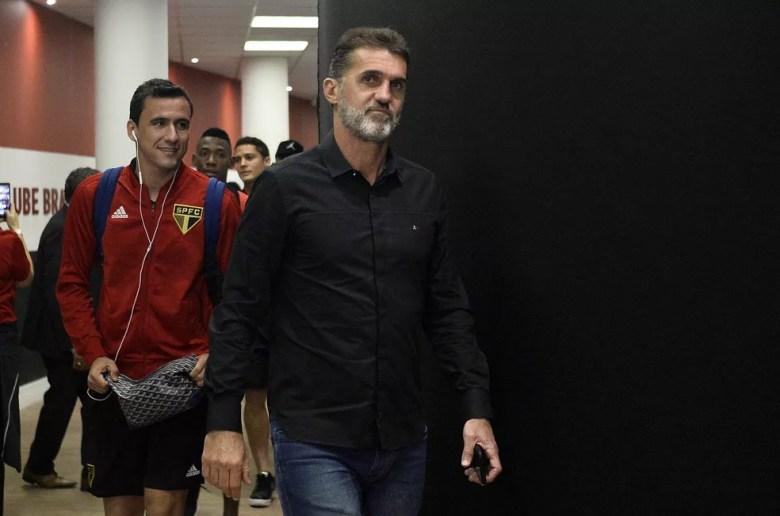 Vagner Mancini, coordenador técnico do São Paulo, pode ser opção de interino antes de Cuca — Foto: Marcos Riboli