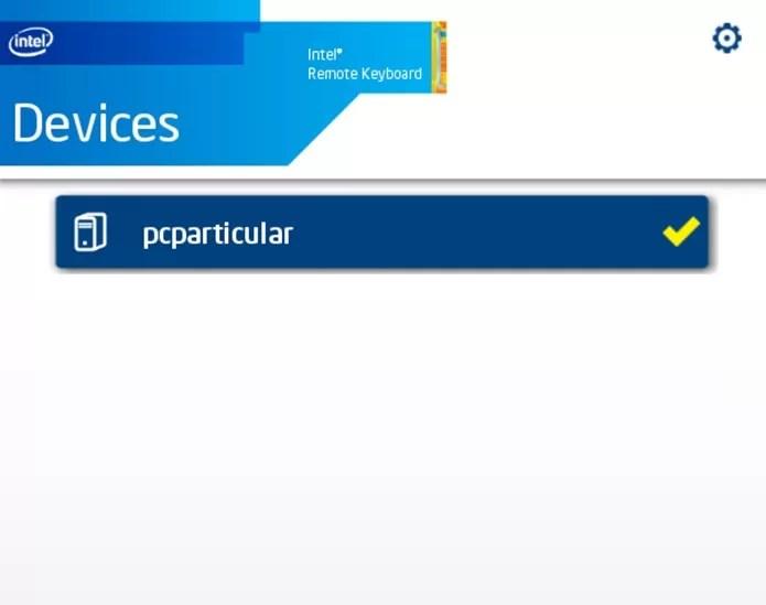 Uma vez instalado, basta abrir o app para encontrar o computador na rede Wi-Fi (Foto: Reprodução / Dario Coutinho)