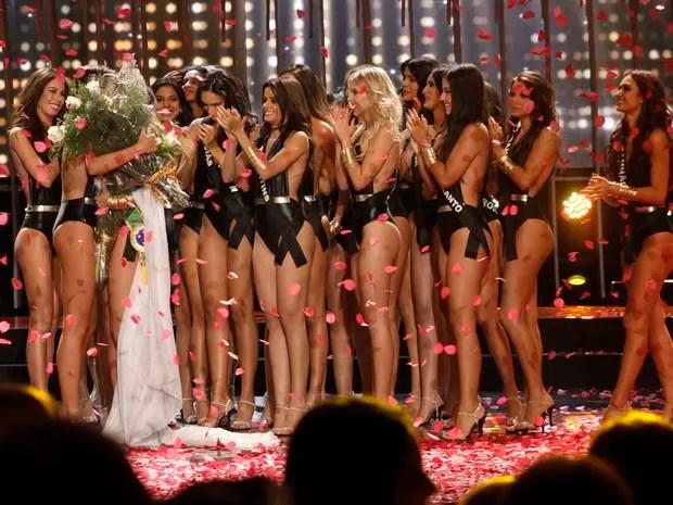Marthina Brandt, representante do Rio Grande do Sul, vence o Miss Brasil 2015 (Foto: Celso Tavares/ EGO)