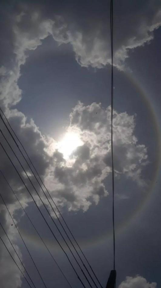 Fenômeno foi visto também no céu de Rio Branco  — Foto: Regiane Bezerra/Arquivo pessoal