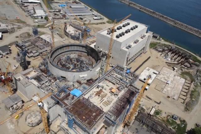 Obra da usina de Angra 3 em dezembro de 2014, antes das obras serem paralisadas  — Foto: Divulgação