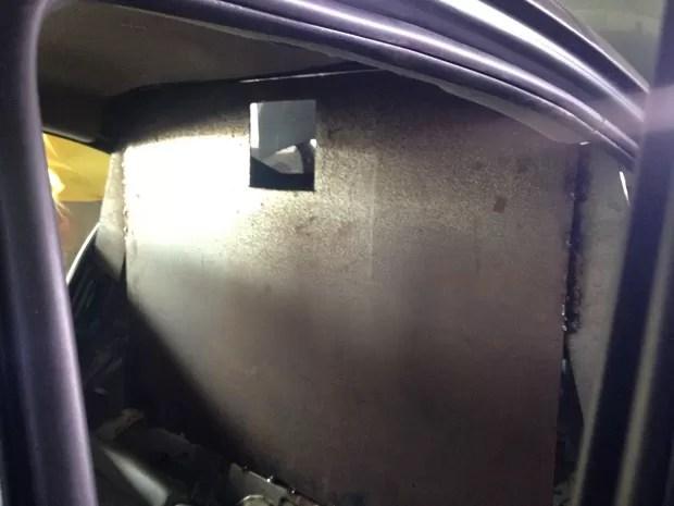 Chapa de ferro era utilizada para proteção e ataque  (Foto: Roberta Salinet/RBS TV)