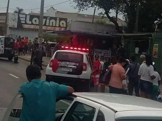 Policiais reviraram e balearam rapaz em Itu (Foto: Arquivo Pessoal)