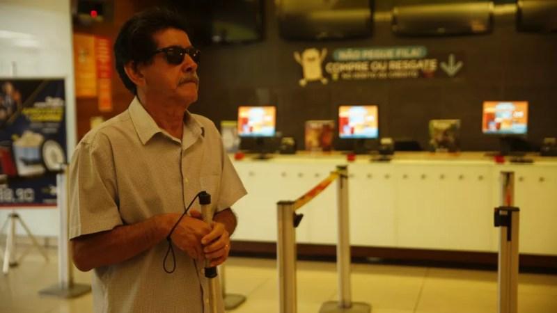Rio de Janeiro já tem nove cinemas com o aparelho de audiodescrição e libras.  — Foto: Gustavo Wanderley/G1