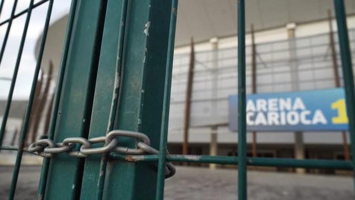 A Arena Carioca 1, no Parque Olímpico, está fechada — Foto: Marcos Serra Lima/G1