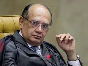 O ministro Gilmar Mendes durante sessão do STF (Foto: Fellipe Sampaio /SCO/STF)