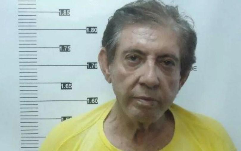 Foto de João de Deus no registro do sistema penitenciário, em Goiás — Foto: Reprodução/TV Anhanguera