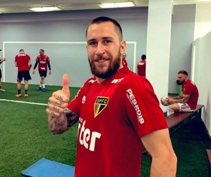 Jonatan Gómez foi negociado com o Sport — Foto: São Paulo FC / Divulgação