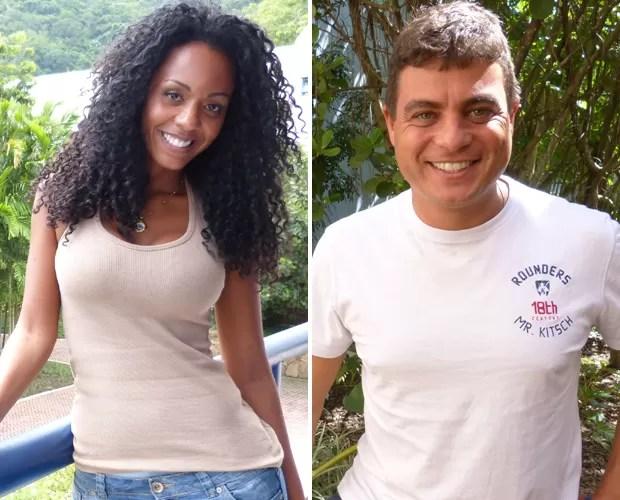 Aline e Dhomini estarão no Domingão do Faustão desta semana (Foto: Domingão do Faustão / TV Globo)