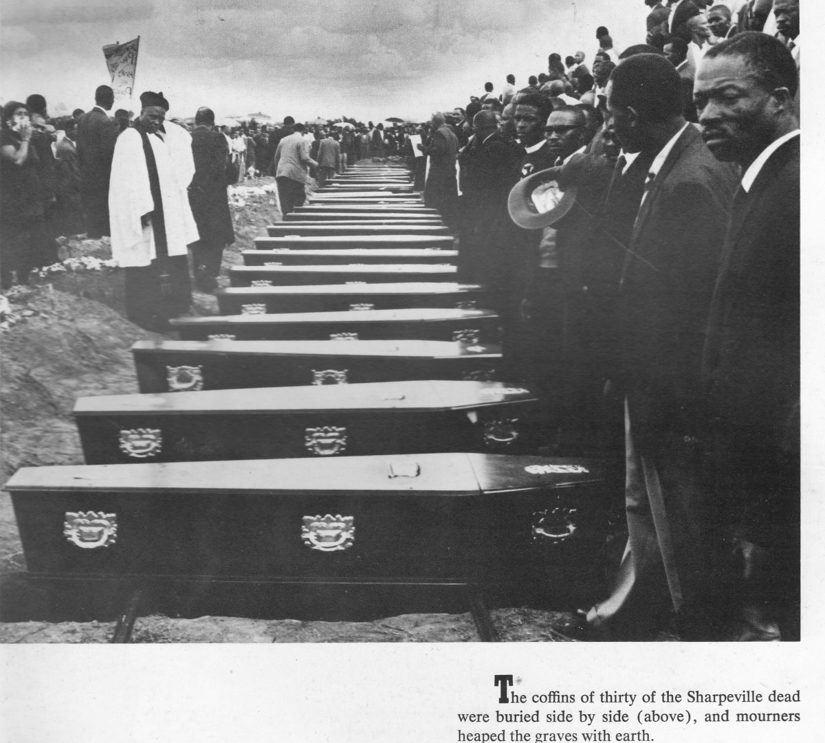 Burial of the Sharpeville shooting victims, most of whom were shot in the back when running away from the rampaging police