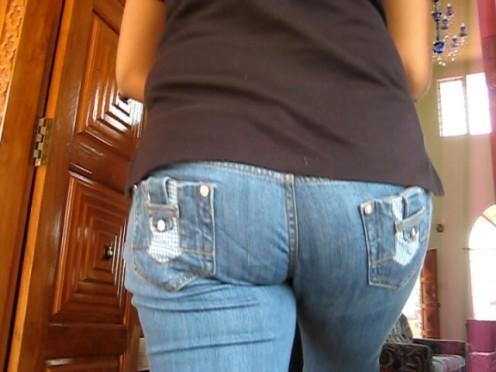 skin tight pocketless jeans