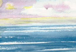 Seascape painted by a man's adjunct