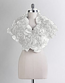 Gorgeous organza ruffled shrug from Ilana