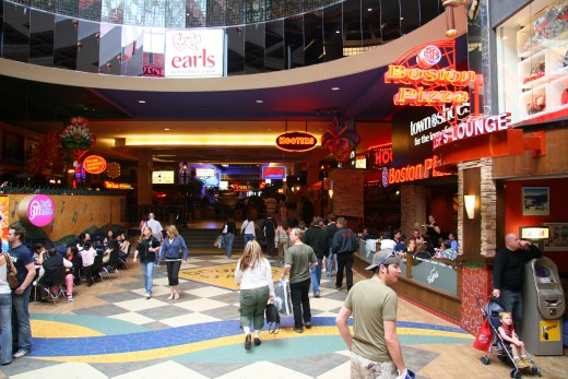 Food Court of West Edmonton Mall in Canada