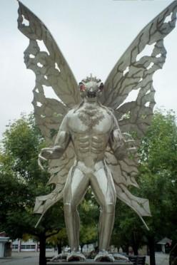 Mothman statue in Point Pleasant WV.