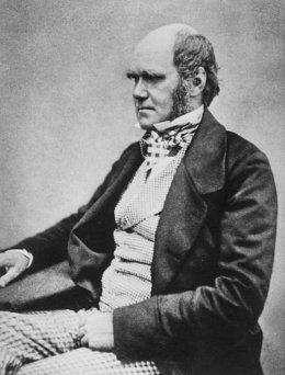 Charles Darwin at the age of 45.