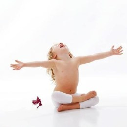 child in firelog pose