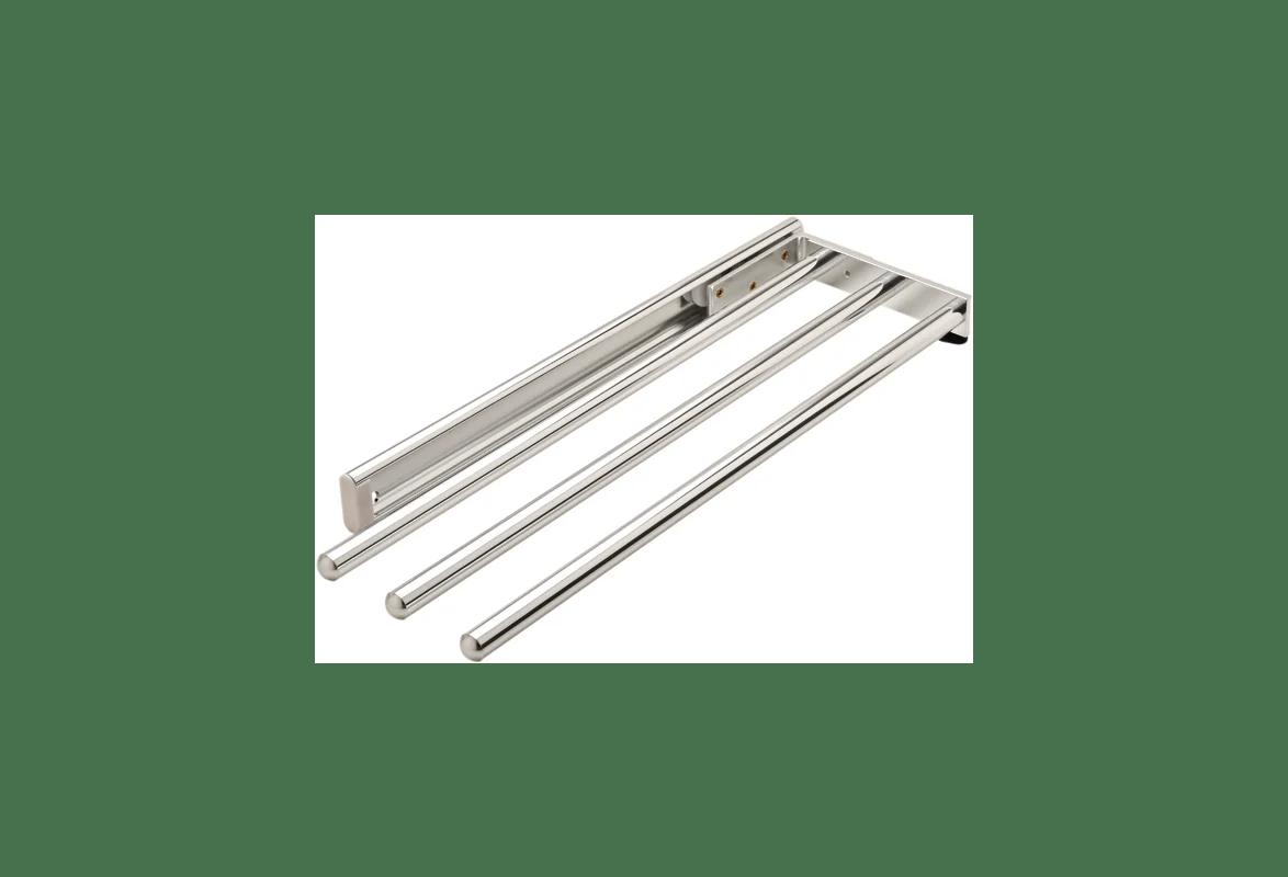 Hafele 510 54 232 Polished Chrome 3 Rail Pull Out Side