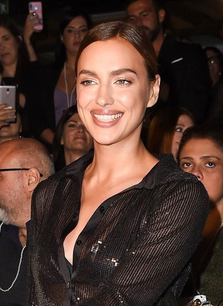 Irina Sheik at a fashion show