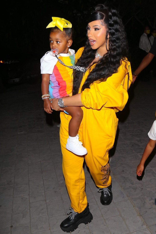 Cardi B with daughter Kulture