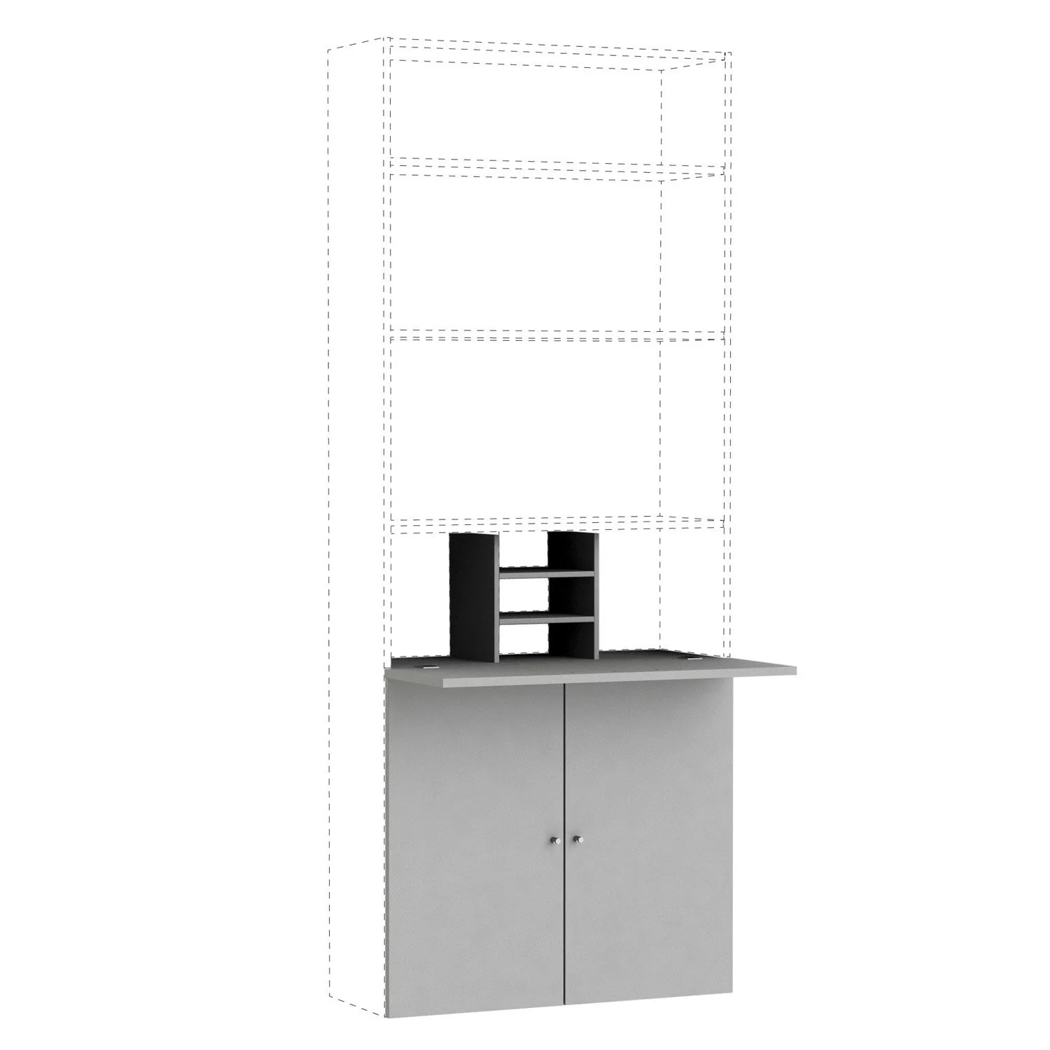 Kit Bureau SPACEO Home 100 X 80 X 30 Cm Anthracite