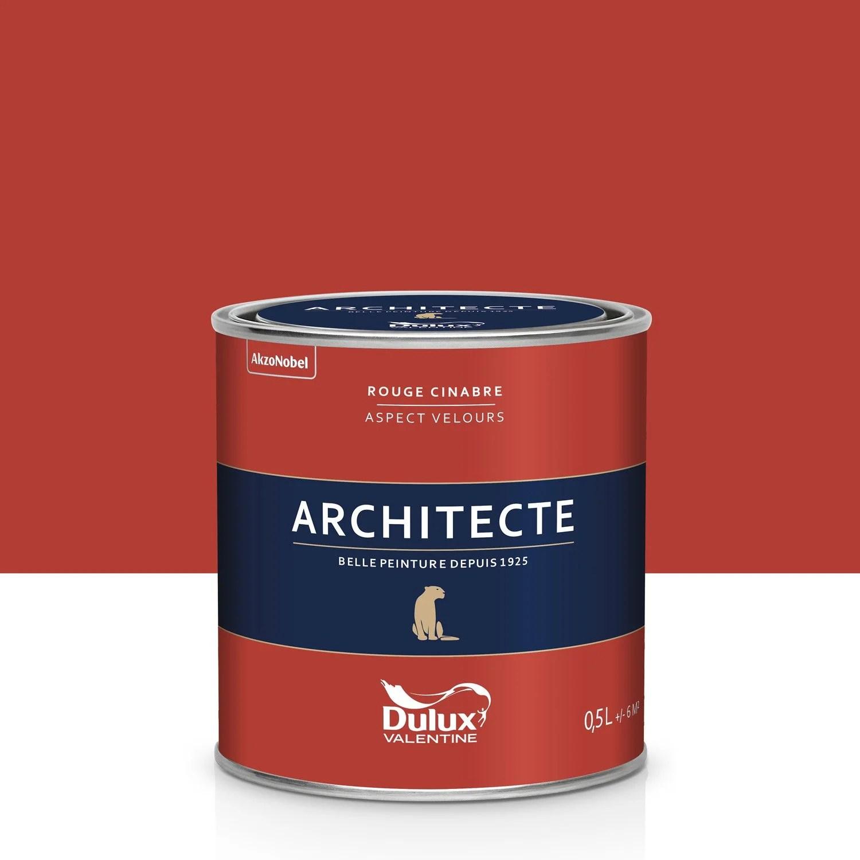 Peinture Rouge Cinabre Velours DULUX VALENTINE Architecte