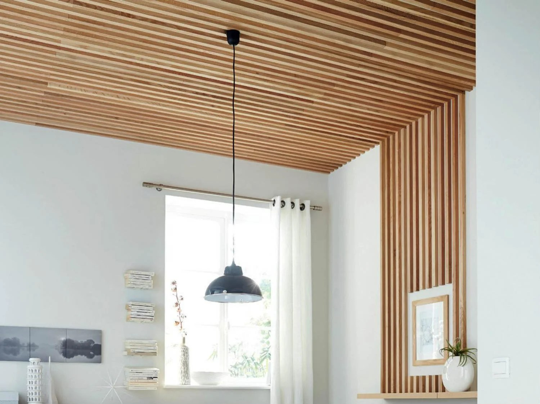 Comment Realiser Un Plafond En Tasseaux Leroy Merlin