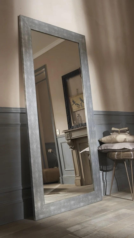 Un Miroir Gris Effet Patine Leroy Merlin