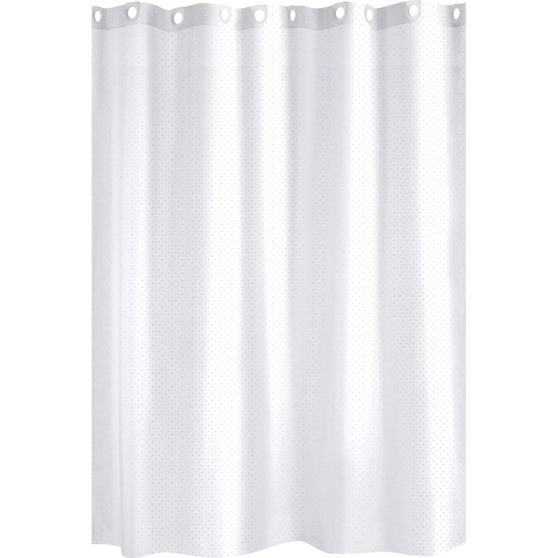 Rideau De Douche En Textile Blanc L 180 X H 200 Cm