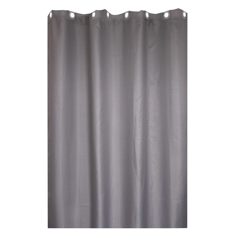 rideau de douche en textile gris galet n 3 l 180 x h