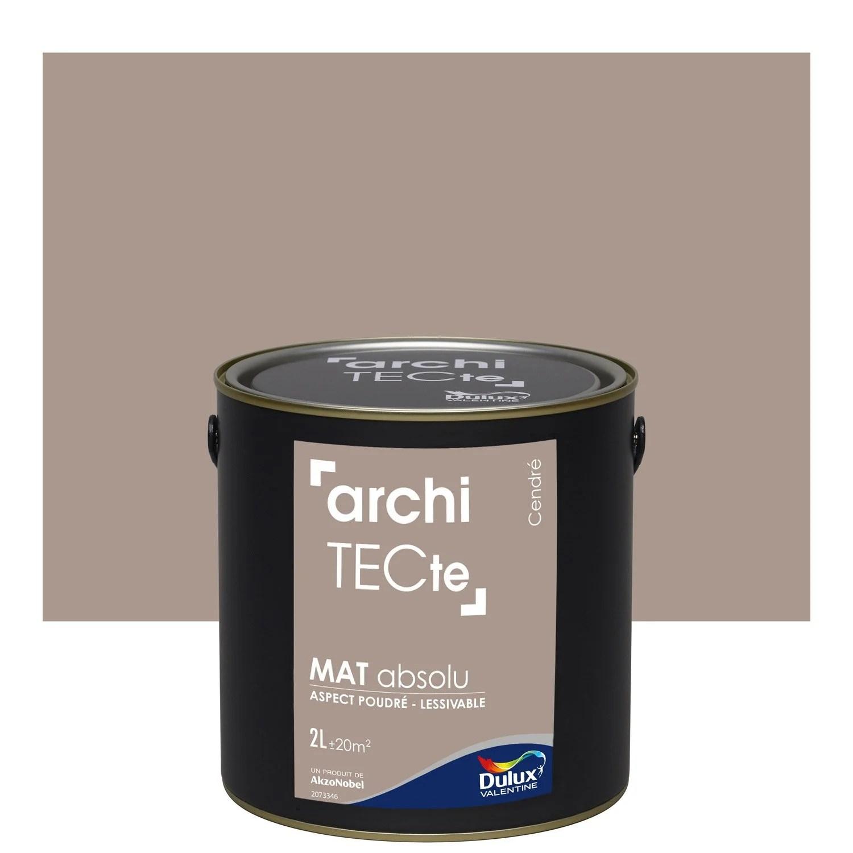 Peinture Gris Cendre Mat DULUX VALENTINE Architecte 2 L