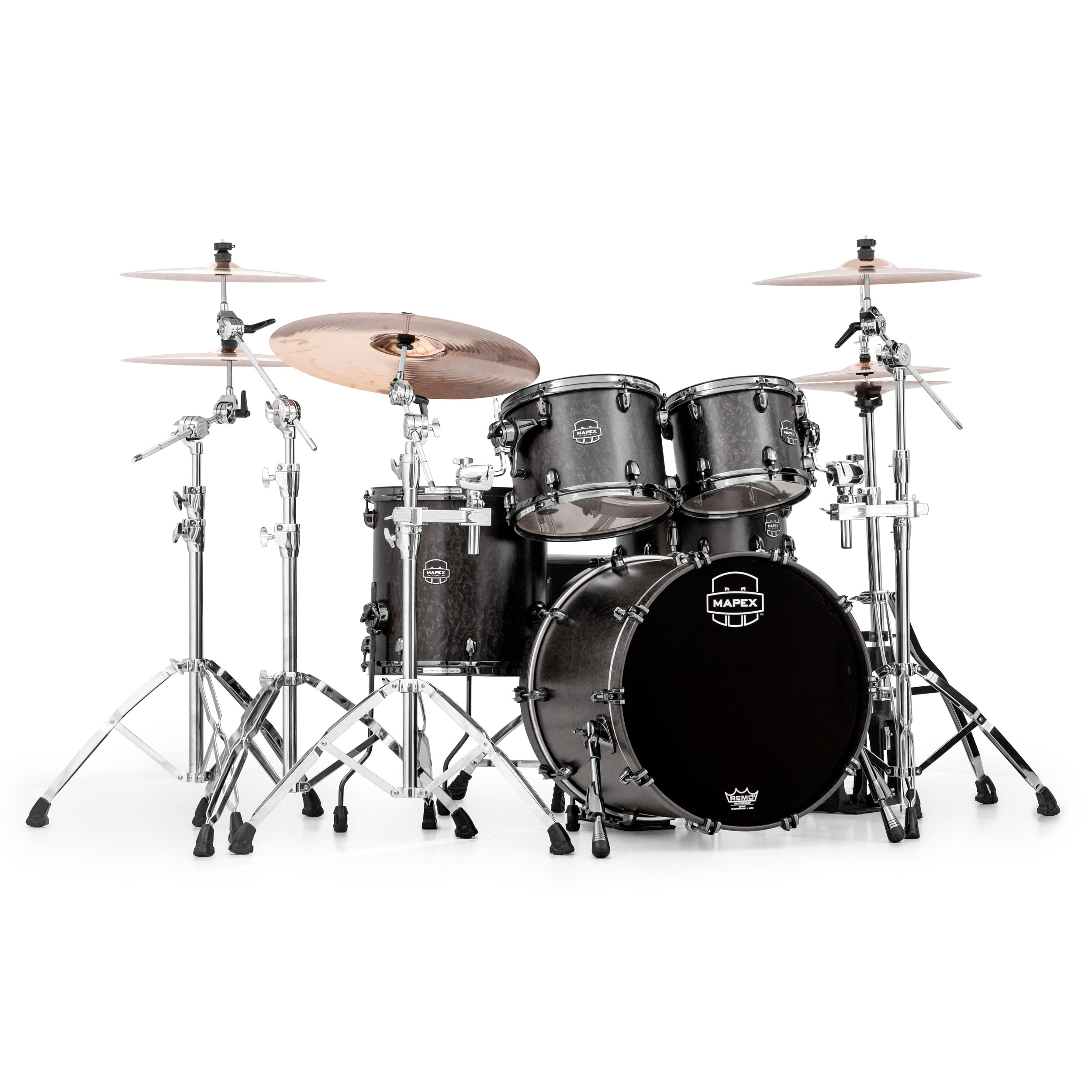 Mapex Saturn V Mh Exotic 4 Piece Fusion Drum Set Shell Pack 20 Bass 10 12 14 Toms Sv504xb