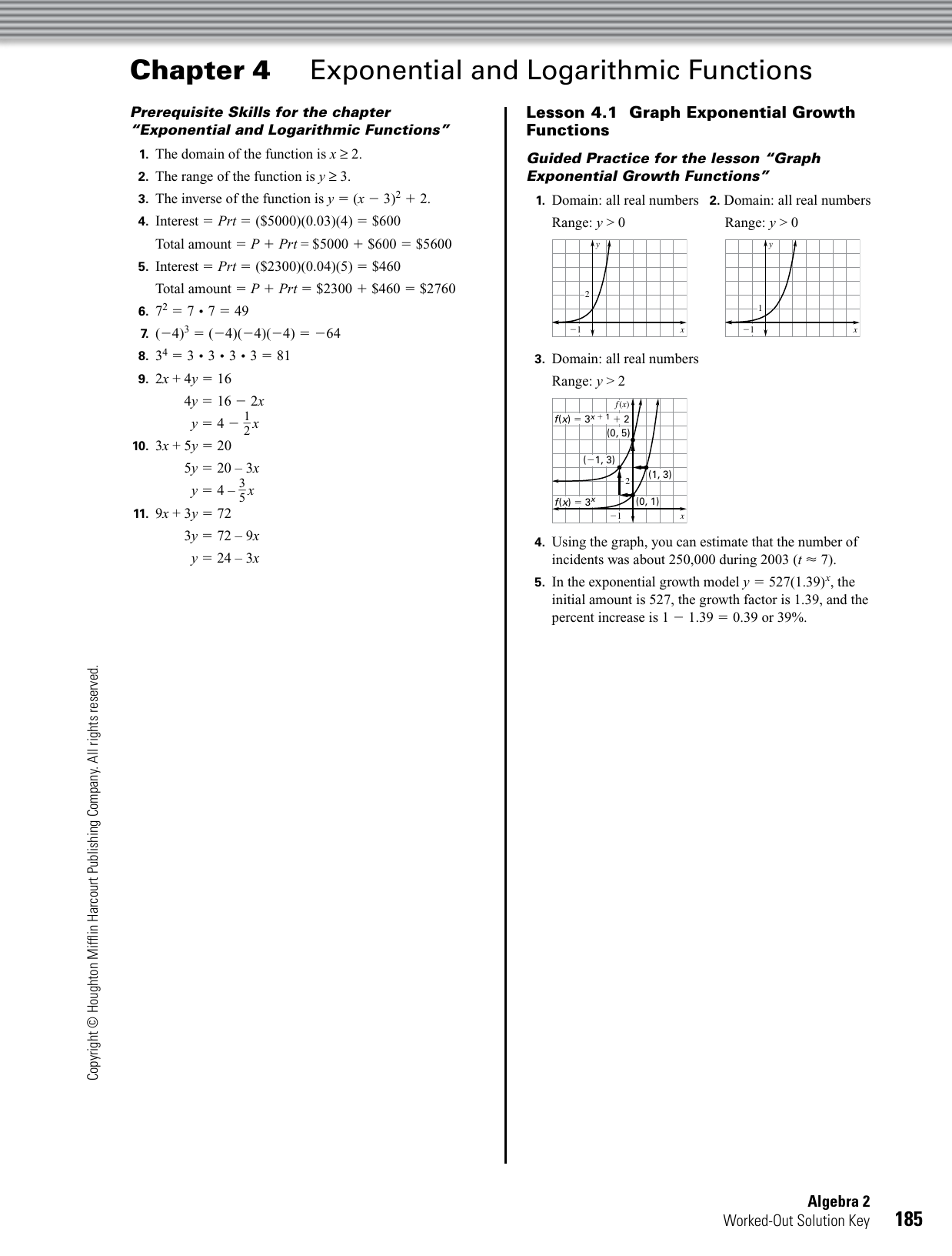 Chapter Exponential And Logarithmic Functions 4