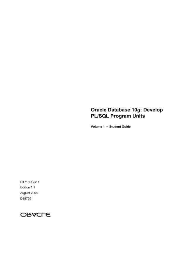 Oracle Database 22g: Develop PL/SQL Program Units - index  Manualzz