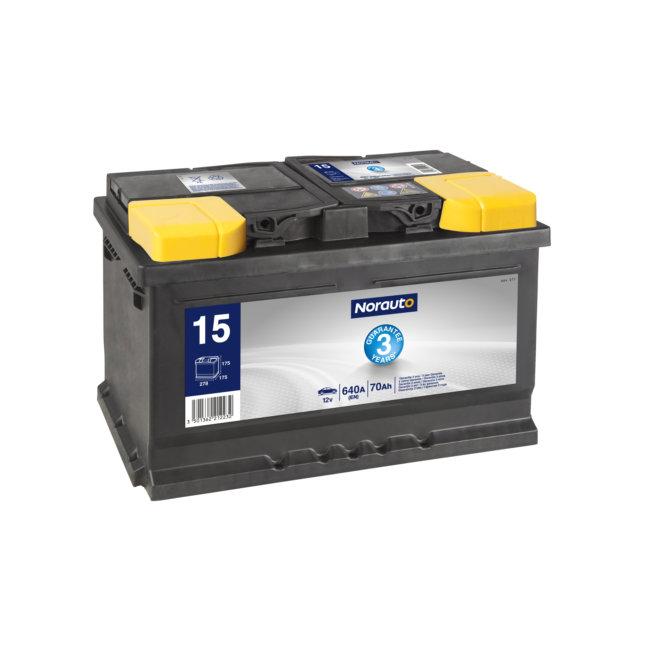 batterie demarrage batteries voitures batterie norauto bv15 70 ah 640 a