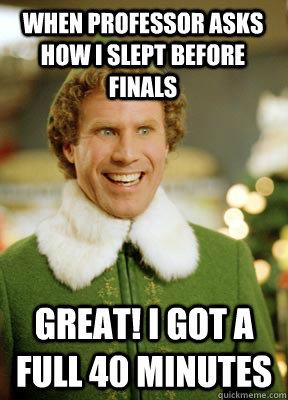 Image result for finals elf memes