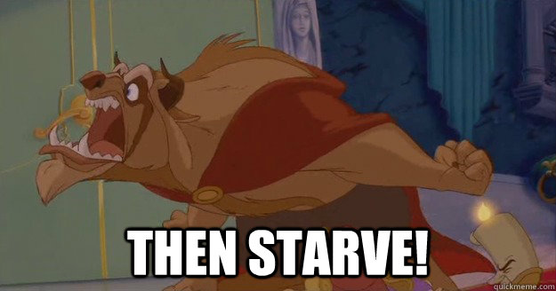 Image result for beauty and the beast starve gif