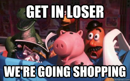 Image result for shopping meme