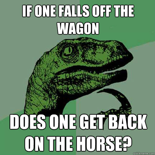 Image result for back on the horse memes