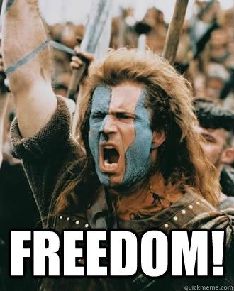FREEDOM! -  FREEDOM!  Braveheart