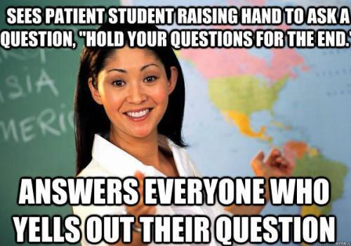 Unhelpful Teacher