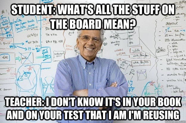 Image result for teacher at the board meme