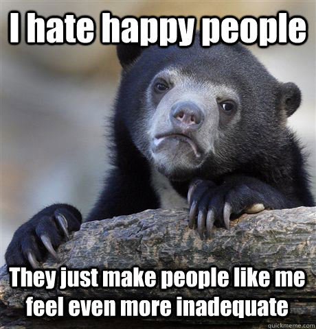 Image result for i hate happy people