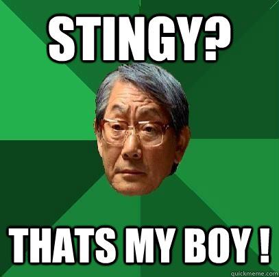 Image result for stingy asian meme